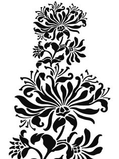 Free beautiful downloadable stencil designs by Alabama Chanin.