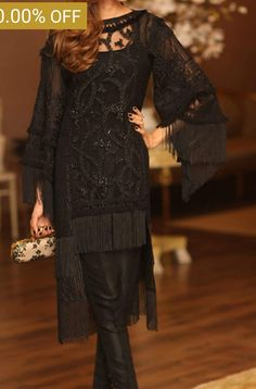 Nice black Pakistani Wedding Outfits, Pakistani Dresses, Indian Dresses, Indian Outfits, Casual Summer Dresses, Stylish Dresses, Simple Dresses, Fashion Dresses, Black Bridal Dresses