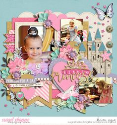 Digital Scrapbook Layout for Disney Princess using Believe in Magic - Princess Fair collection by Studio Flergs and Amber Shaw and Set 214 - Princess Fair templates by Cindy Schneider (found at Sweet Shoppe Designs)