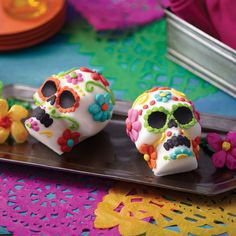 Day of the Dead Sugar Skull from @michaelsstores.  Celebrate the Day of the Dead with vibrant and delicious sugar skulls.