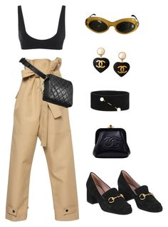 Untitled #768 by lucyshenton on Polyvore featuring polyvore, fashion, style, Amanda Wakeley, Rochelle Sara, Gucci, Chanel, Dries Van Noten, Yves Saint Laurent and clothing