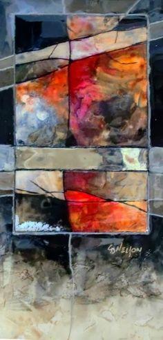 Houston demo 1 - mixed media contemporary abstract © Carol Nelson Fine Art