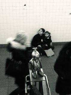 Romanian gypsy woman in NYC subway 14th/8th Avenue: NYC, NY January 2013