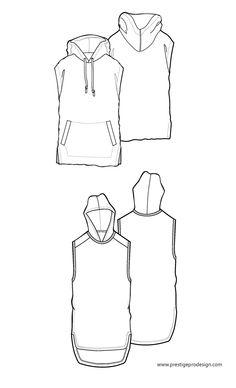Sleeveless, hooded