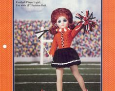 Cheerleader Doll Crochet Craft Pattern Booklet by attictreasuresbyjudy. Explore more products on http://attictreasuresbyjudy.etsy.com