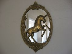 Vintage Unicorn Mirror