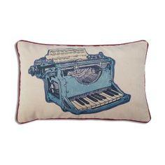 Almohadón de pana Máquina de escribir