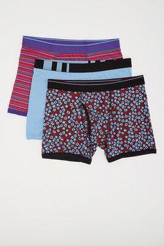 3 Pack Boxer Briefs - Bottoms Out - Underwear + Socks : JackThreads