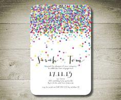 CONFETTI - Custom Personalised Printable Invitation