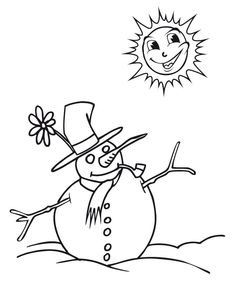 Snowman (5) Printable - Snowman Coloring Pages