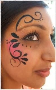 Image result for Simple Cheek Face Painting Ideas