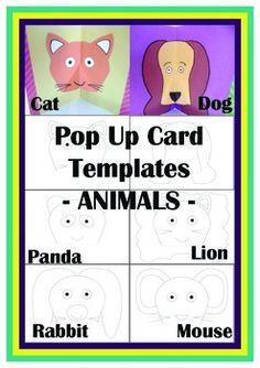 Animal Pop Up Card Templates