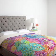 DENY Designs Stephanie Corfee Flourish Duvet Cover in Pink - BedBathandBeyond.com