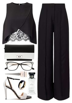 """Expression Of Black And White"" by hiddensoulmemories ❤ liked on Polyvore featuring Miss Selfridge, Topshop, Givenchy, Tom Ford, Marni and Privé"