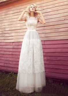 Платье свадебное кружевное в стиле ретро