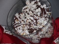 Chocolate covered popcorn <3 Can't wait to try this!    Gourmet Chocolate Covered Popcorn ~ Heat Oven to 350