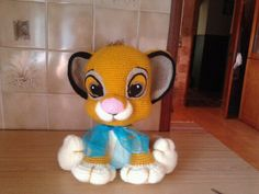 Knit Or Crochet, Crochet Toys, Free Crochet, Amigurumi Tutorial, Crochet Patterns Amigurumi, Simba Toys, Crochet Disney, Disney Crafts, Crochet Animals