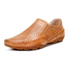 The Southcoast Slip On is a driving shoe with a huge dose of attitude. Made with custom perforation and a whip-stitched upper, it totally stands out from the crowd. Casual Leather Shoes, Leather Sandals, Casual Shoes, Cap Toe Shoes, Shoes Sandals, Dress Shoes, Business Casual Attire For Men, Men Casual, Mocassin Shoes