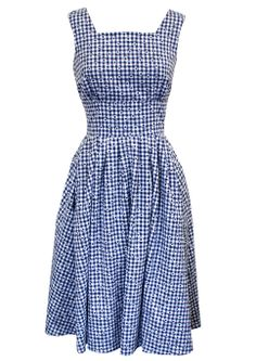 1950s Day Dress - Daisy Chain - inspired by Horrockses http://www.20thcenturyfoxy.com/en/just-added/50s-day-dress-daisy-chain