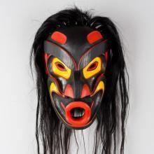 Red Cedar Tsonokwa Mask by Kwakwaka'wakw artist Joe Wilson