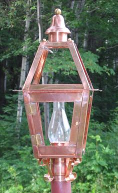 Hand Crafted Copper Post Lantern