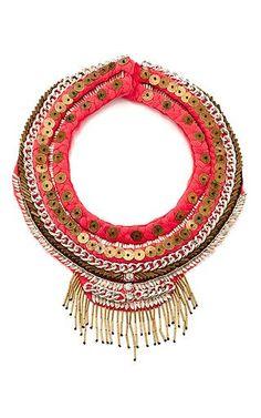 Petite layne beaded coral silk necklace by MIGNONNE GAVIGAN Available Now on Moda Operandi