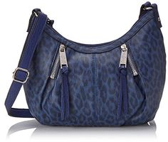 Jessica Simpson Abbey X-Body Cross Body Bag, Midnight Blue Leopard, One Size >>> Check out the image by visiting the link.