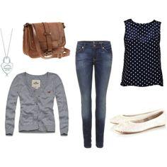 outfit with polka dotz. I love polka dots!!!