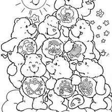 All Care Bears coloring page - Coloring page - CHARACTERS coloring pages - TV SERIES CHARACTERS coloring pages - CARE BEARS coloring pages - CARE BEAR coloring pages