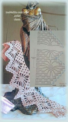 crochet lace edging spider points