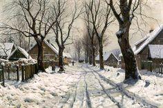 Titre de l'image : Walter Moras - Les hivers au village