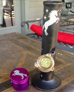 Unicorn Bong and Weed grinder from ShopStayWild.com ✨ #weed #cannabis #marijuana #bong #pipe #bubbler #420 #ganja #710 #cbd #dabs #grinder