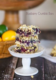 Blueberry Crumble Bars : Yummy Bar Recipes on kleinworthco.com