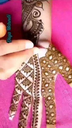 Circle Mehndi Designs, Very Simple Mehndi Designs, Mehndi Designs Front Hand, Mehndi Designs For Kids, Latest Bridal Mehndi Designs, Mehndi Designs 2018, Mehndi Designs Book, Henna Designs Easy, Beautiful Mehndi Design