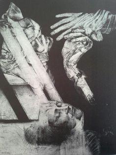Roda serie retratos de las monjas muertas no 2 Dark Art, Photoshop, Statue, Drawings, Prints, Hands, American, University, Nun