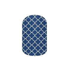 Jamberry Nail Wraps (22 NZD) ❤ liked on Polyvore featuring beauty products, nail care, nail treatments, jamberry and navy quatrefoil
