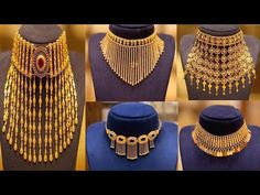 Gold Bangles Design, Gold Jewellery Design, Latest Gold Jewellery, Fancy Jewellery, Bridal Jewellery, Wedding Jewelry, Gold Necklace Simple, Gold Jewelry Simple, Gold Necklaces