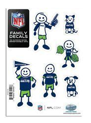 "Seattle Seahawks 5""x7"" Family Car Decal Sheet"