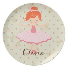 Personalised Ballerina - Red Hair Green Eyes Plate - red gifts color style cyo diy personalize unique  sc 1 st  Pinterest & Personalised Ballerina - Asian Dinner Plate | Asian dinner plates