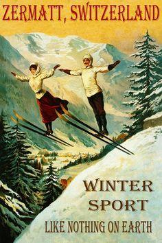 Tin Sign XXL Sports  Historic ski race