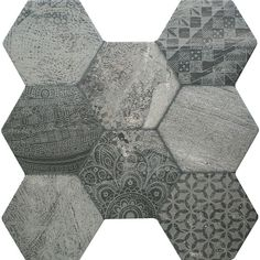 love the color and pattern, no floral  Tribal Stone Tiles Ruvido Hexagon Tiles 450x450x9mm Tiles