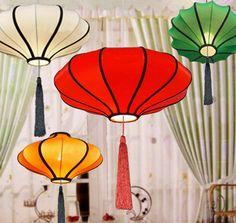Tissu lanterne lumières nouveauté de lumière pendentif Lustres chinois lanterne lumières accueil hôtel déco moderne pendentif tissé à la main éclairage(China (Mainland))