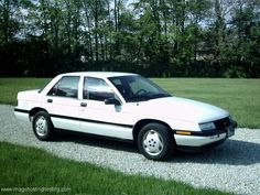 My first car was a Corsica. Mine was blue with blue interior. Was a good car.