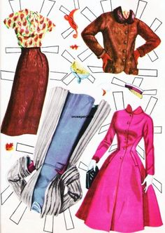 Doris Day Paper Doll clothes* 1500 free paper dolls at Arielle Gabriel's The Internatioal Paper Doll Society and Arielle Gabriel's art, prints, paintings as well. Paper Doll Costume, Barbie Paper Dolls, Vintage Paper Dolls, Paper Dolls Clothing, Doll Clothes, Paper Dolls Printable, Vintage Artwork, Paper Toys, Paper Crafts