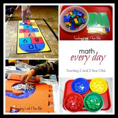 Everyday Math Play in Preschool! - Teaching 2 and 3 year olds