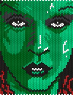 Gamora From Guardians Of The Galaxy Bead Pattern