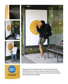 Science World Bus Stop Germ Awareness Advertising