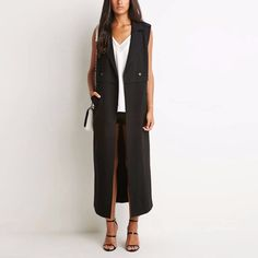 Now available on http://www.madelinenewyork.com/products/copy-of-camel-sleeveless-structured-trench-vest?utm_campaign=social_autopilot&utm_source=pin&utm_medium=pin Black Sleeveless ...