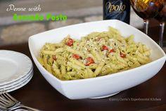 Penne with Avocado Pesto  