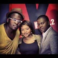 Sol Phenduka, Bridget and Tumelo.